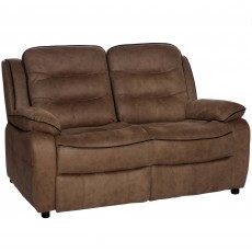 Marchesi 2 Seater Sofa Suede Look Brown
