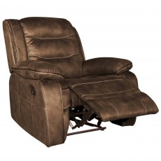 Marchesi Manual Reclining Armchair Fabric Brown