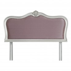 Araminta Silver Leaf Single (90cm) Upholstered Headboard