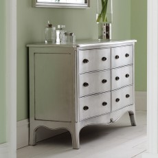 Araminta Silver Leaf 4 + 2 Chest Of Drawers