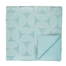 Helena Springfield Posy Aquamarine 260cm x 265cm Quilted Throw