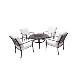 Royalcraft Versailles 4 Seater Dining Set With Fire Pit
