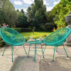 Royalcraft Monaco 2 Seater Egg Chair Green Bistro Set