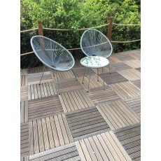 Royalcraft Monaco 2 Seater Egg Chair Grey Bistro Set