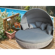 Katie Blake by Glencrest Seatex Chatsworth Grey Convertible Day Bed with Side Table