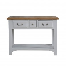 Seychelles Light Grey & Oak 3 Drawer Console Table