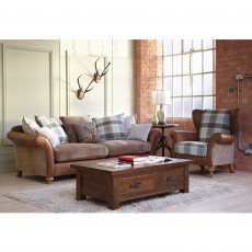 Alexander & James Lawrence 4 Seater Sofa Scatter Back Fabric Option 1