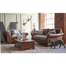 Alexander & James Lawrence 2 Seater Sofa Standard Back Fabric Option 1