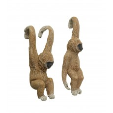 PARLANE Set of 2 Brown Gibbon Pot Hangers