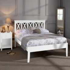 April Opal White Small Double (120cm) Bedstead