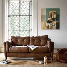 Saddler 4 Seater Sofa with Chaise LHF Leather Byron