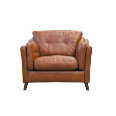 Saddler Armchair Leather Byron