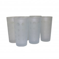 Set of 6 Frosted Tumblers