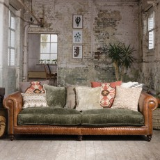 Tetrad Constable 4 Seater Sofa Leather & Fabric 4