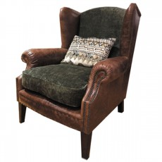 Tetrad Constable Armchair- Leather & Fabric 4
