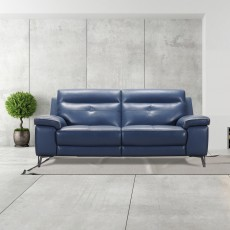 Delgada 2 Seater Sofa Grey Leather Category 13 (S)