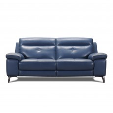 Delgada 3 Seater Sofa Grey Leather Category 13 (S)
