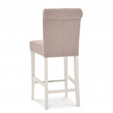 Freeport Grey Upholstered Fabric Bar Stool