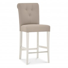 Freeport Grey Faux Leather Upholstered Bar Stool