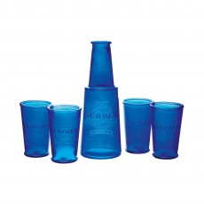 KITCHEN CRAFT Santorini 5 Piece Water Bottle & Glass Set