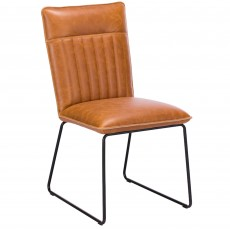 Cooper Dining Chair Faux Leather Tan