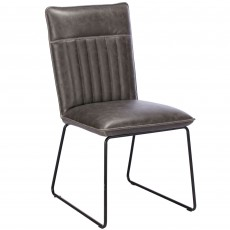 Cooper Dining Chair Faux Leather Grey
