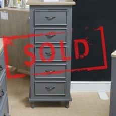 Cumulus 5 Drawer Tallboy Grey (Available in Kilkenny & Galway) RRP €499 OUR PRICE €265 SAVE €234