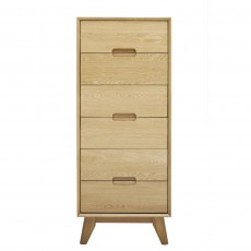 Bjorn 6 Drawer Tallboy Oak