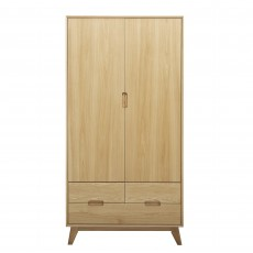 Bjorn 2 Door Wardrobe Oak