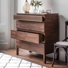 Jaipur 4 Drawer Chest Dark Brown