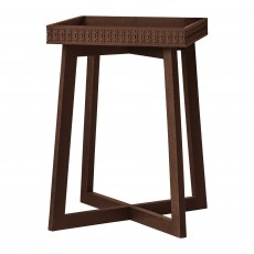 Jaipur Side Table Dark Brown