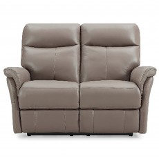 Basilicata Electric Reclining 2 Seater Sofa With Adjustable Headrest & Lumbar Leather