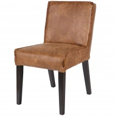 Liege Suede/Faux Leather Dining Chair Cognac