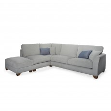 Moseley 1.5 Seater + 3 Seater Corner Sofa LHF With Storage Footstool Fabric C