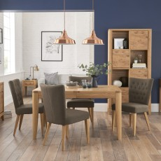 Burrswood Oak 6-8 Person Extending Dining Table