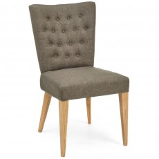 Burrswood Upholstered Dining Chair Black Gold Fabric