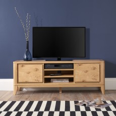 Burrswood Oak Wide Entertainment Unit