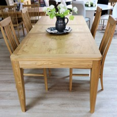 Burrswood Oak 6-8 Person Dining Table & 4 Slatted Back Chairs