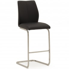 Lazio Bar Stool Faux Leather Black