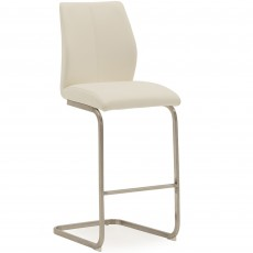 Lazio Bar Stool Faux Leather White