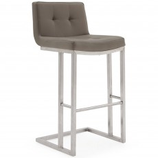 Asolo Bar Stool Faux Leather Buff