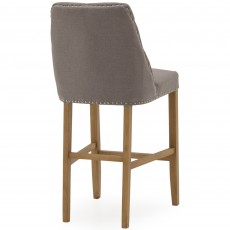 Gradara Bar Stool Fabric Grey