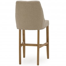 Gradara Bar Stool Fabric Beige