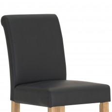 Savoca Bar Stool Faux Leather Black