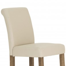 Savoca Bar Stool Faux Leather Ivory