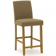 Farnese Low Bar Stool Fabric Beige