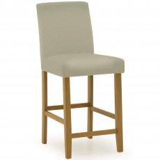 Farnese Bar Stool Faux Leather Cream
