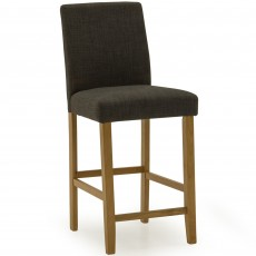 Farnese Bar Stool Faux Leather Cappucino