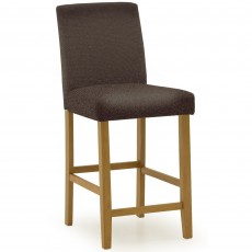 Farnese Bar Stool Faux Leather Brown