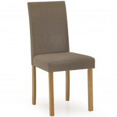 Dozza Dining Chair Faux Leather Cappucino